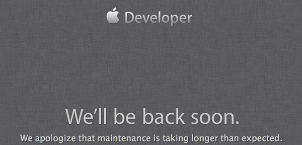 Apple Developer Down