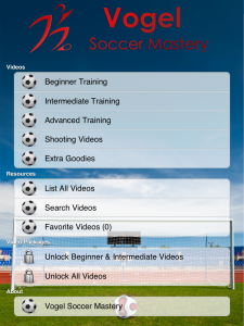Vogel Soccer Main Screen